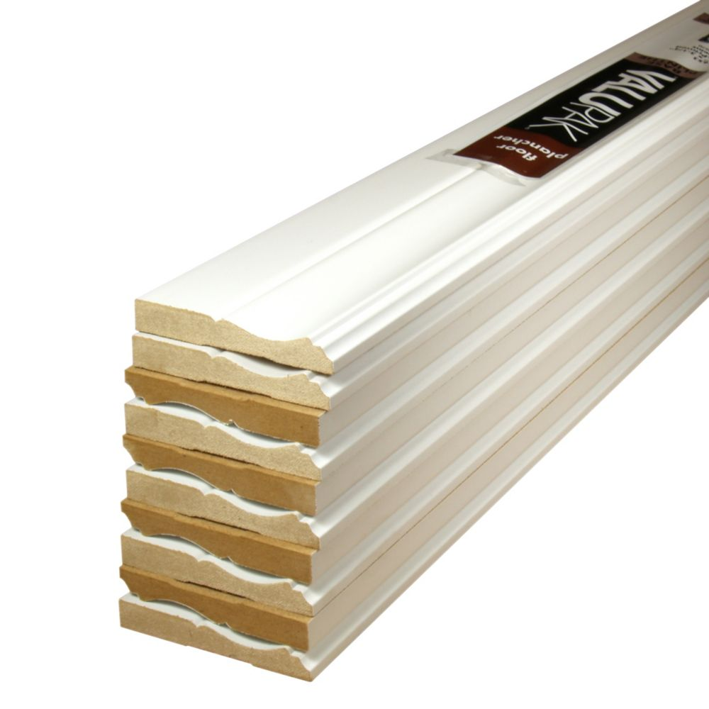 Primed Fibreboard Base ValuPAK 1/2 In. x 3-1/4 In. x 8 Ft. (10 Pieces)